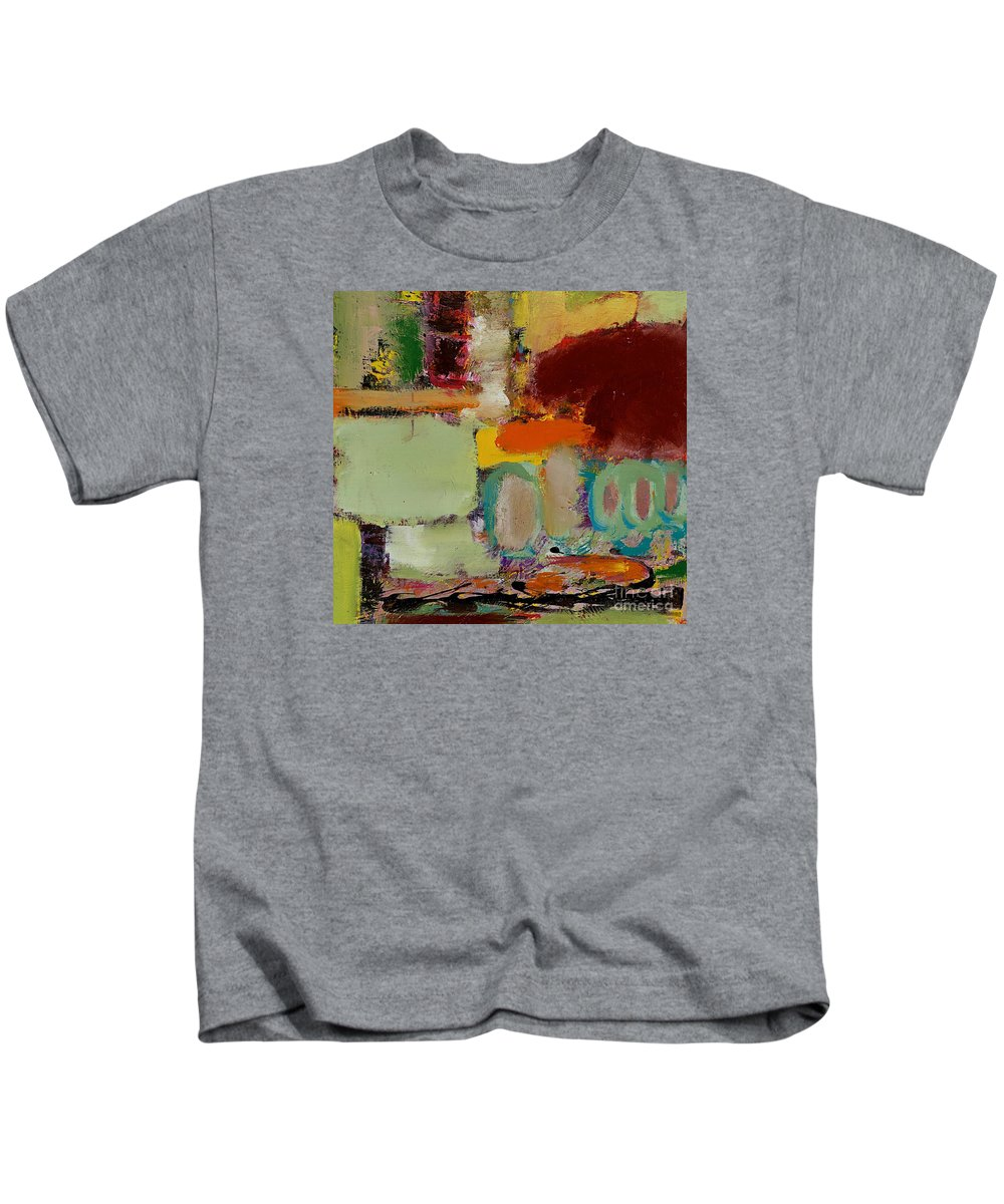 Landscape Kids T-Shirt featuring the painting Over There by Allan P Friedlander
