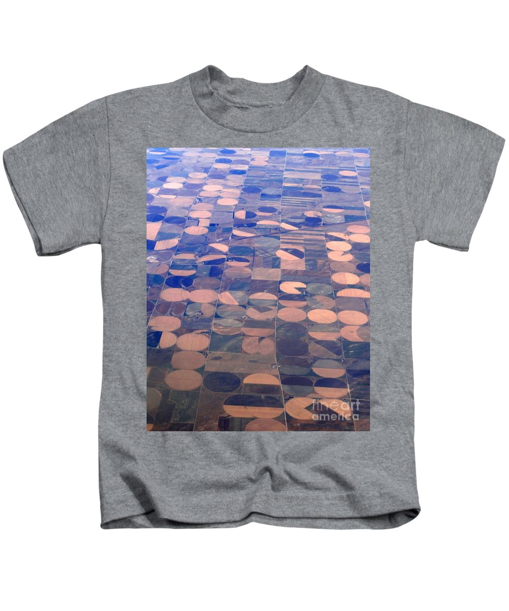 Crop Circles Kids T-Shirt featuring the photograph Pac-man by Anthony Wilkening