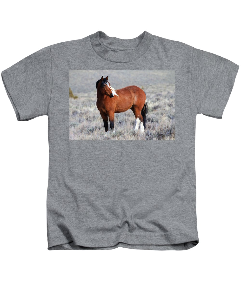Horses Kids T-Shirt featuring the photograph Painted Apache by Athena Mckinzie