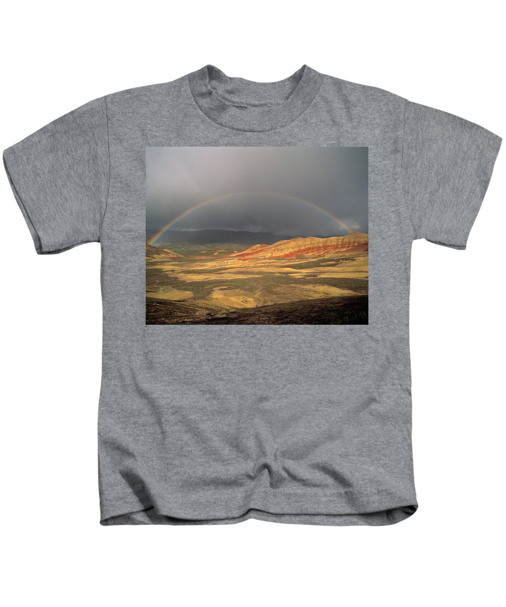 Painted Hills Kids T-Shirt featuring the photograph Painted Hills by Leland D Howard