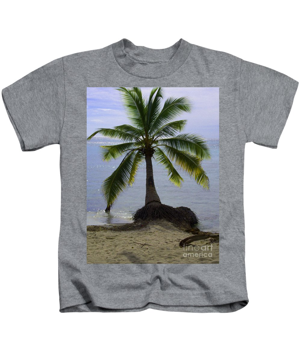 Palm Kids T-Shirt featuring the photograph Palm At The Edge Of The Sea Number Two by Heather Kirk