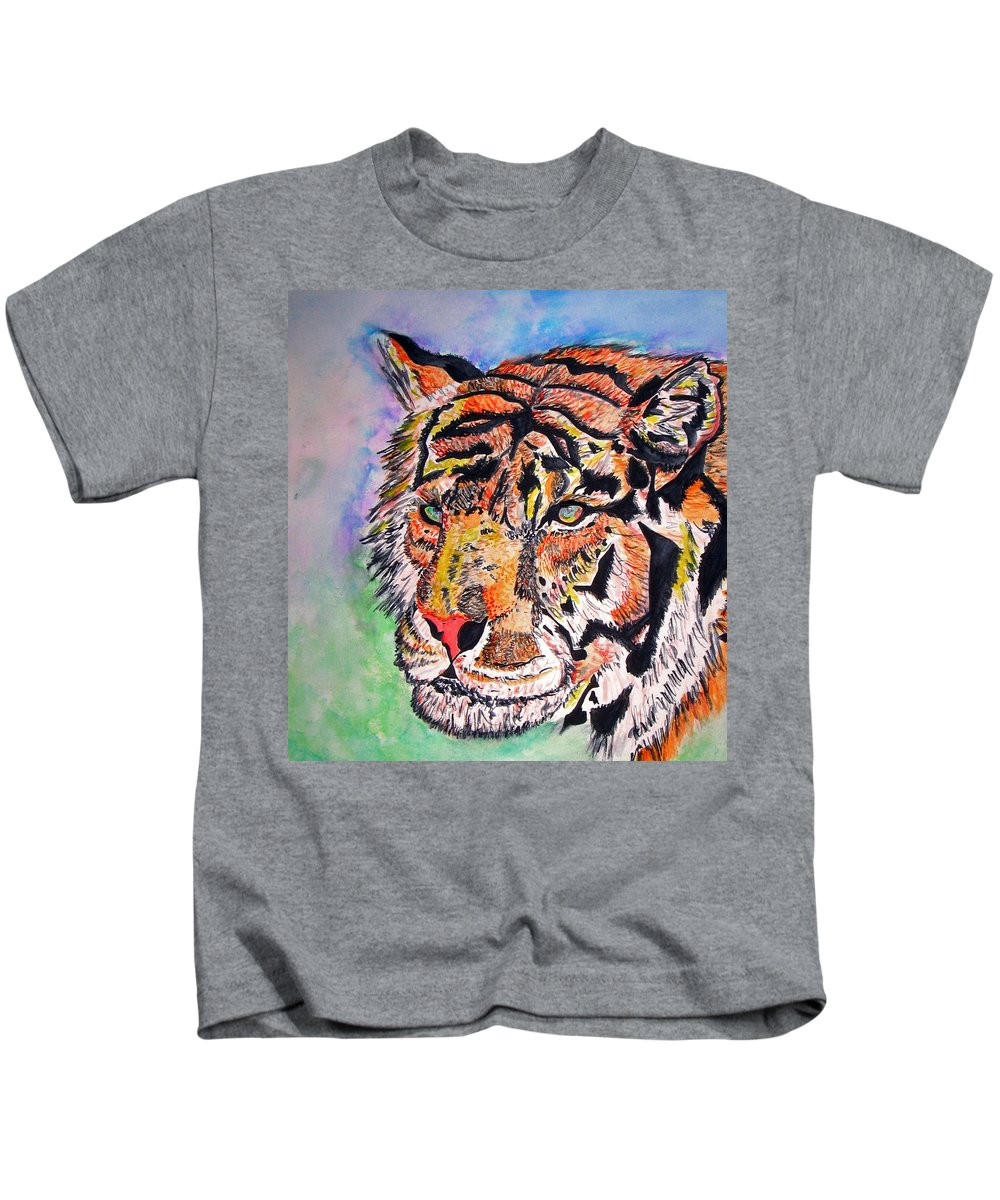 Abstract Kids T-Shirt featuring the painting Paradise Dream by Crystal Hubbard