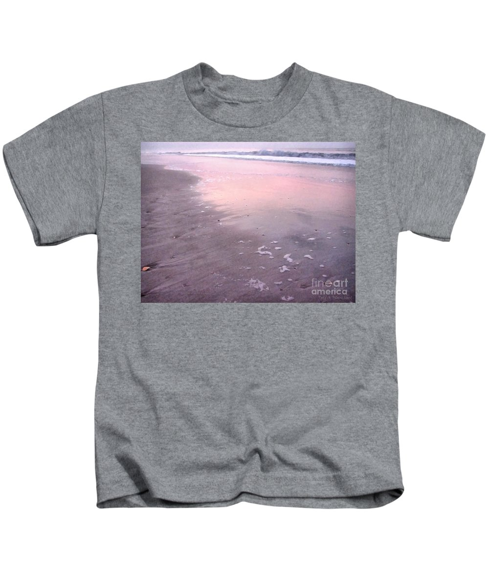 Landscape Kids T-Shirt featuring the photograph Pastel Beach by Todd A Blanchard