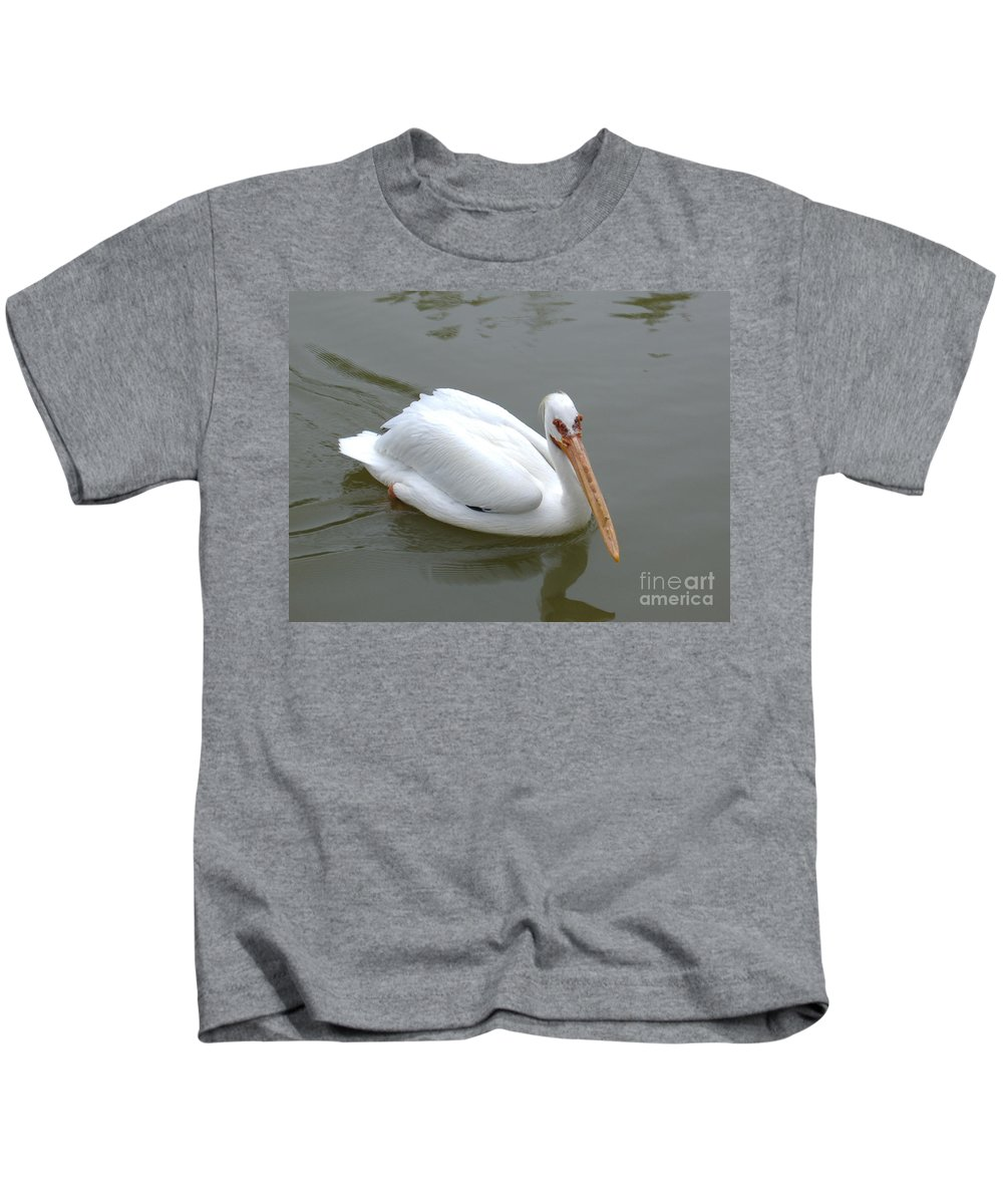 Pelican Kids T-Shirt featuring the photograph Pelican Brief by Nathanael Smith