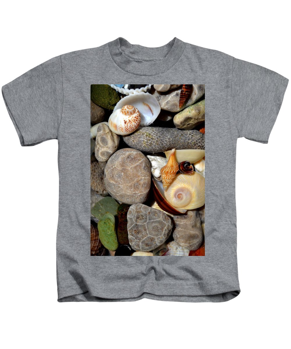 Stone Kids T-Shirt featuring the photograph Petoskey Stones Ll by Michelle Calkins