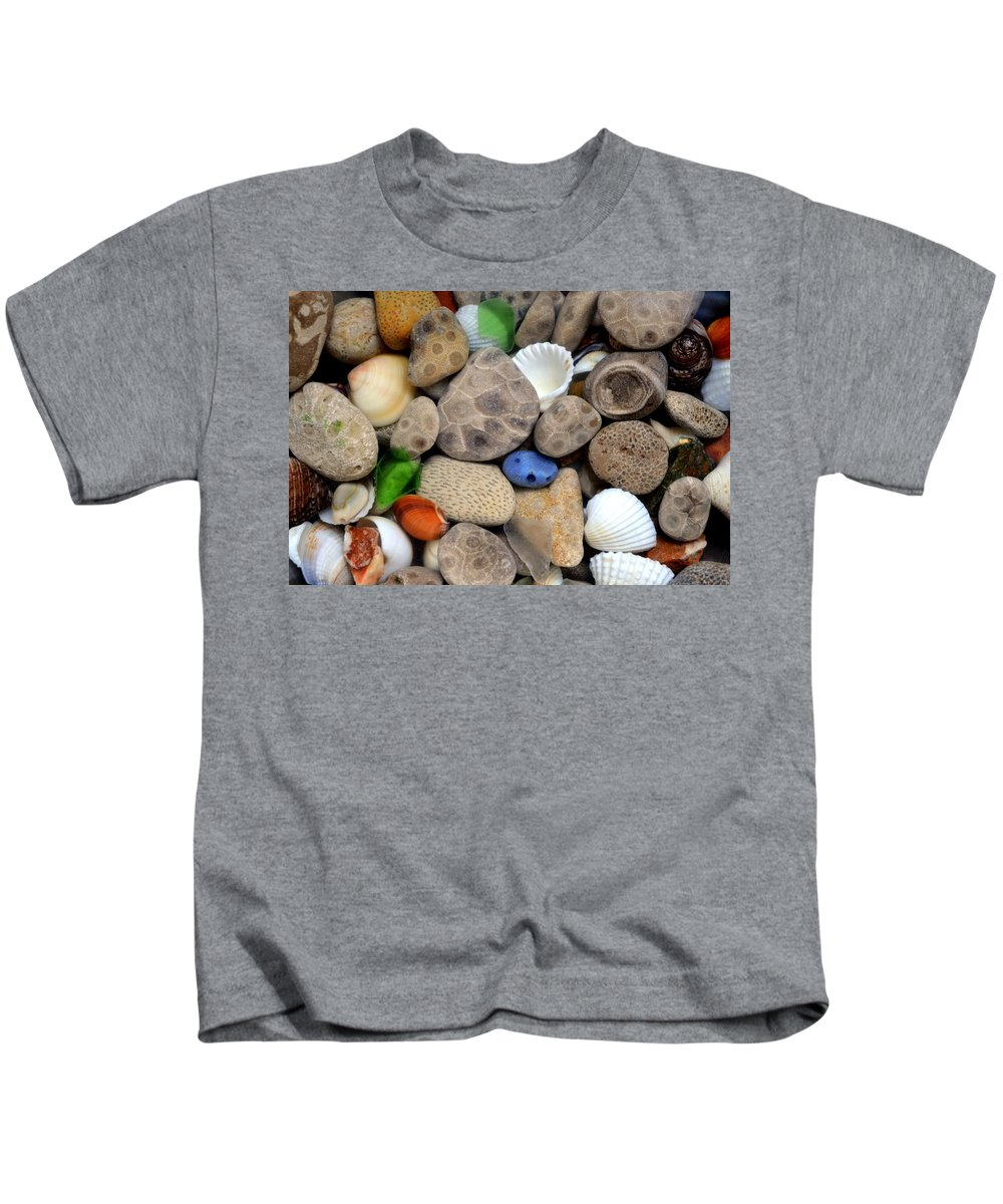 Stone Kids T-Shirt featuring the photograph Petoskey Stones Lll by Michelle Calkins