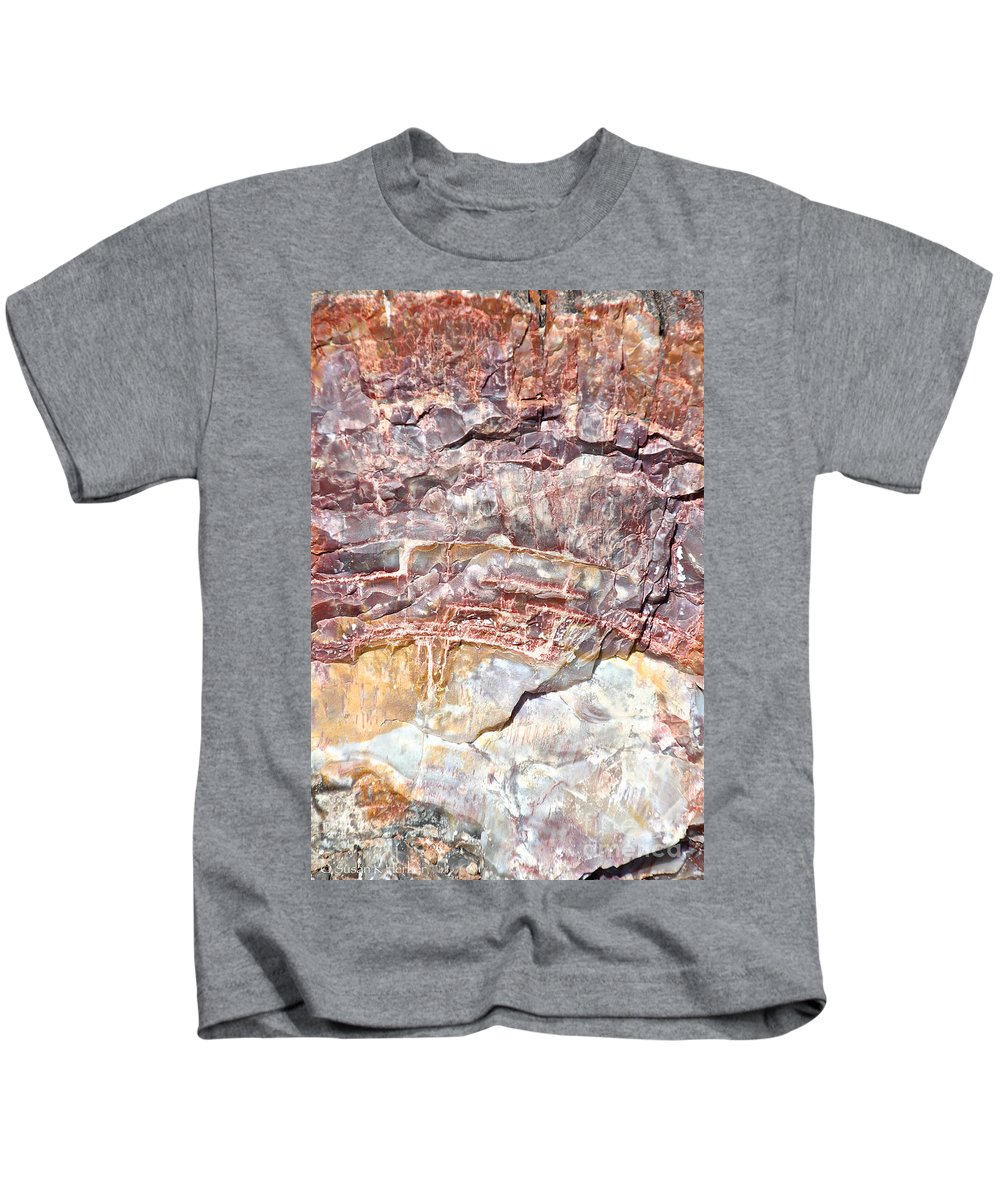 Outdoors Kids T-Shirt featuring the photograph Petrified Rings by Susan Herber