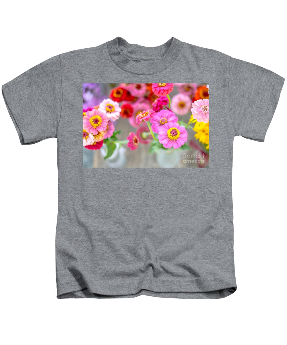 Soft Kids T-Shirt featuring the photograph Pink And Red by Cheryl Baxter