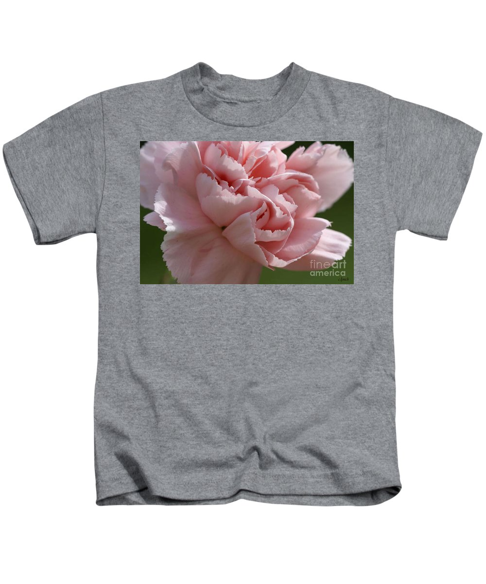 Pink Kids T-Shirt featuring the photograph Pink Carnation by Carol Lynch