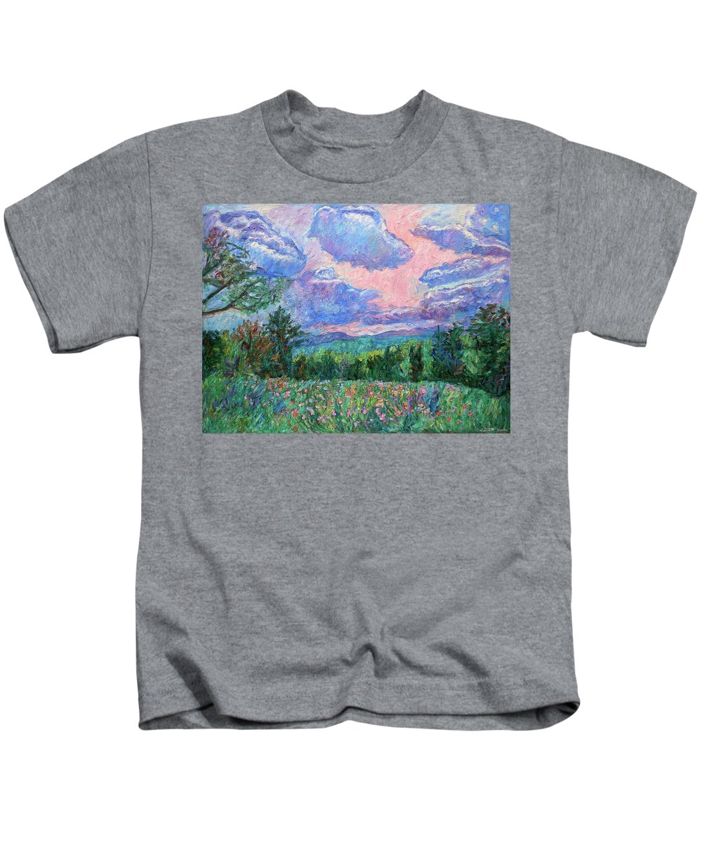 Kendall Kessler Kids T-Shirt featuring the painting Pink Light by Kendall Kessler