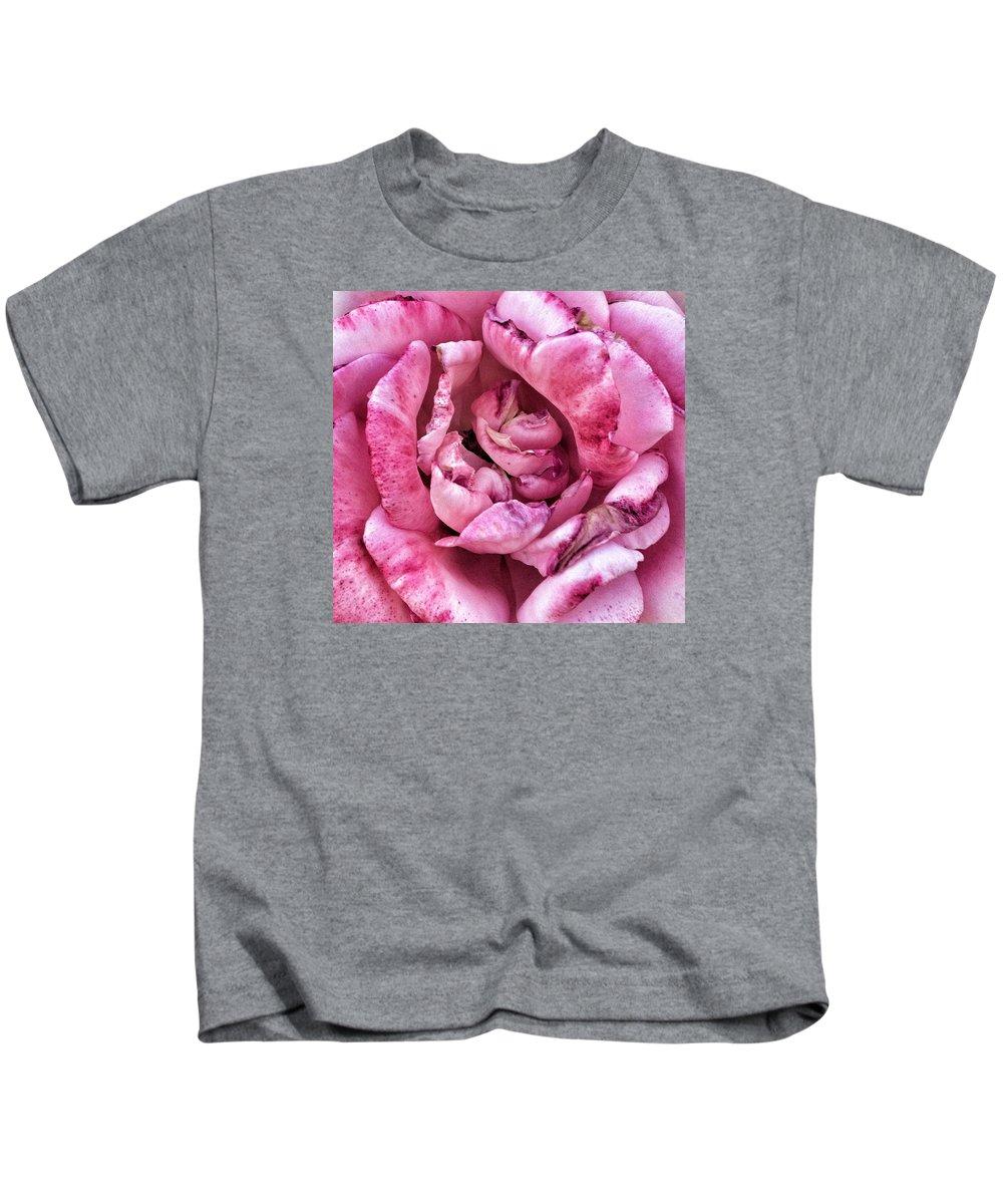 Pink Kids T-Shirt featuring the photograph Pink Rose by Myda Muckala