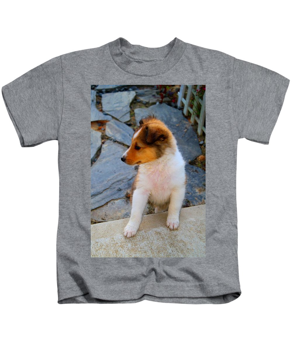 Piper Kids T-Shirt featuring the photograph Piper by Kathryn Meyer