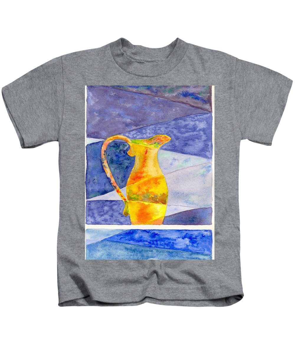 Still Life Kids T-Shirt featuring the painting Pitcher 1 by Micah Guenther