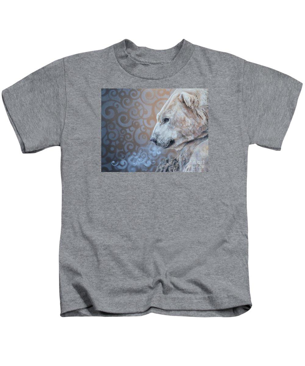 Polar Bear Kids T-Shirt featuring the painting Nebula by Lachri