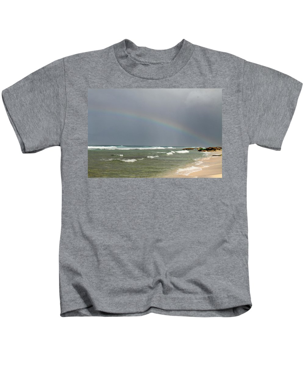 Rainbow Kids T-Shirt featuring the photograph Pot Of Gold by Catie Canetti