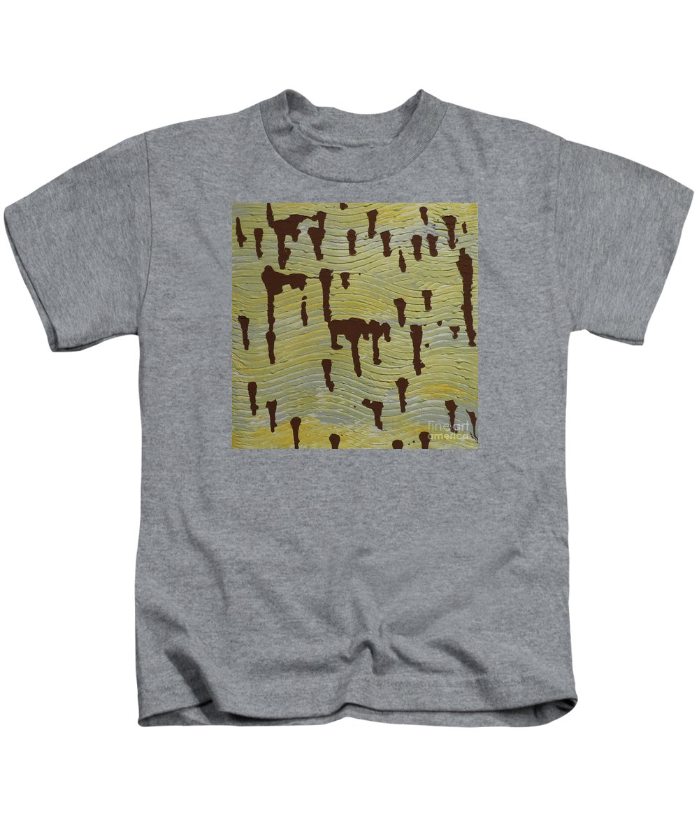 Powerful Wind Kids T-Shirt featuring the painting Powerful Wind by Elizabeth Harshman