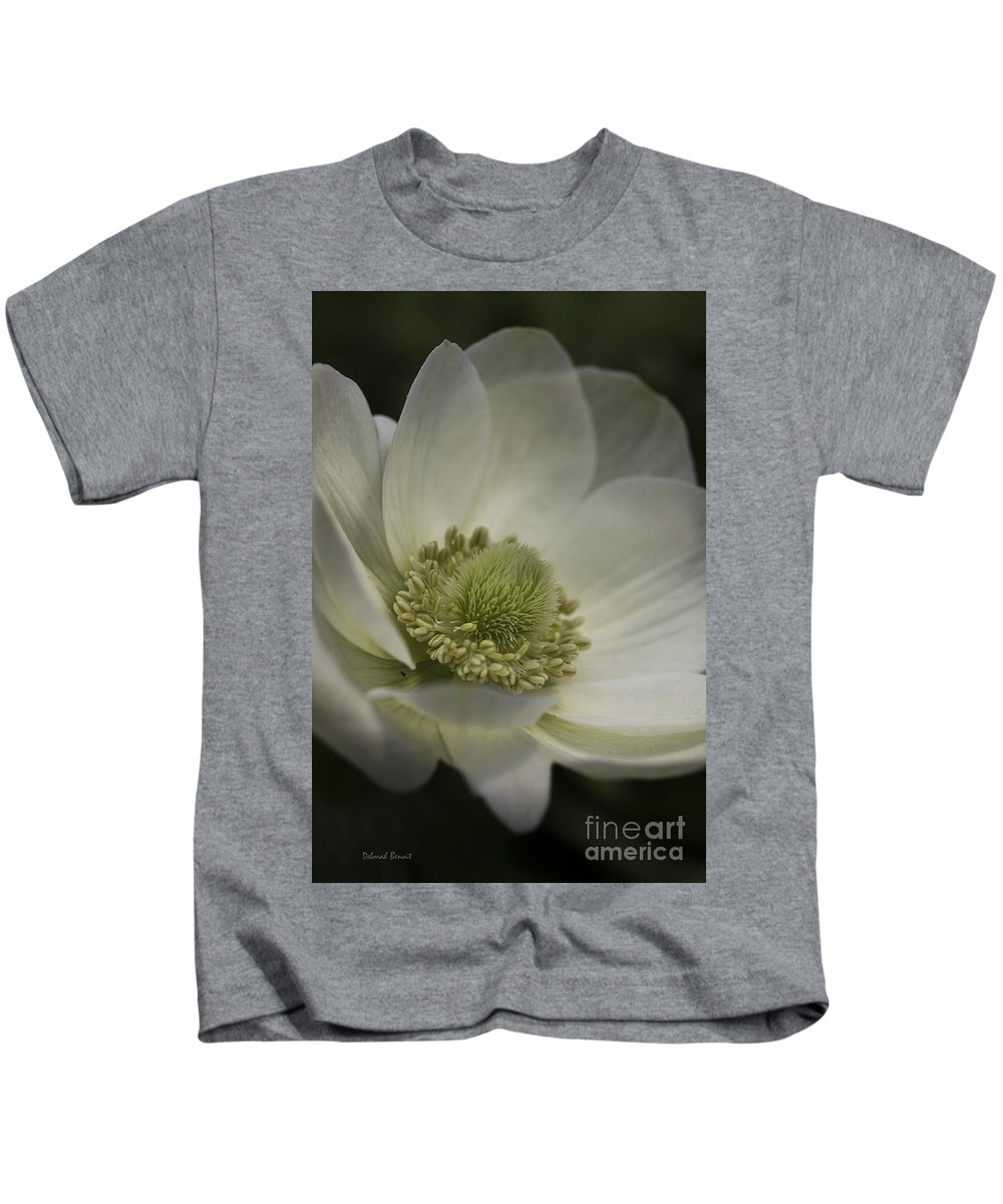 Flower Kids T-Shirt featuring the photograph Pureness In White by Deborah Benoit
