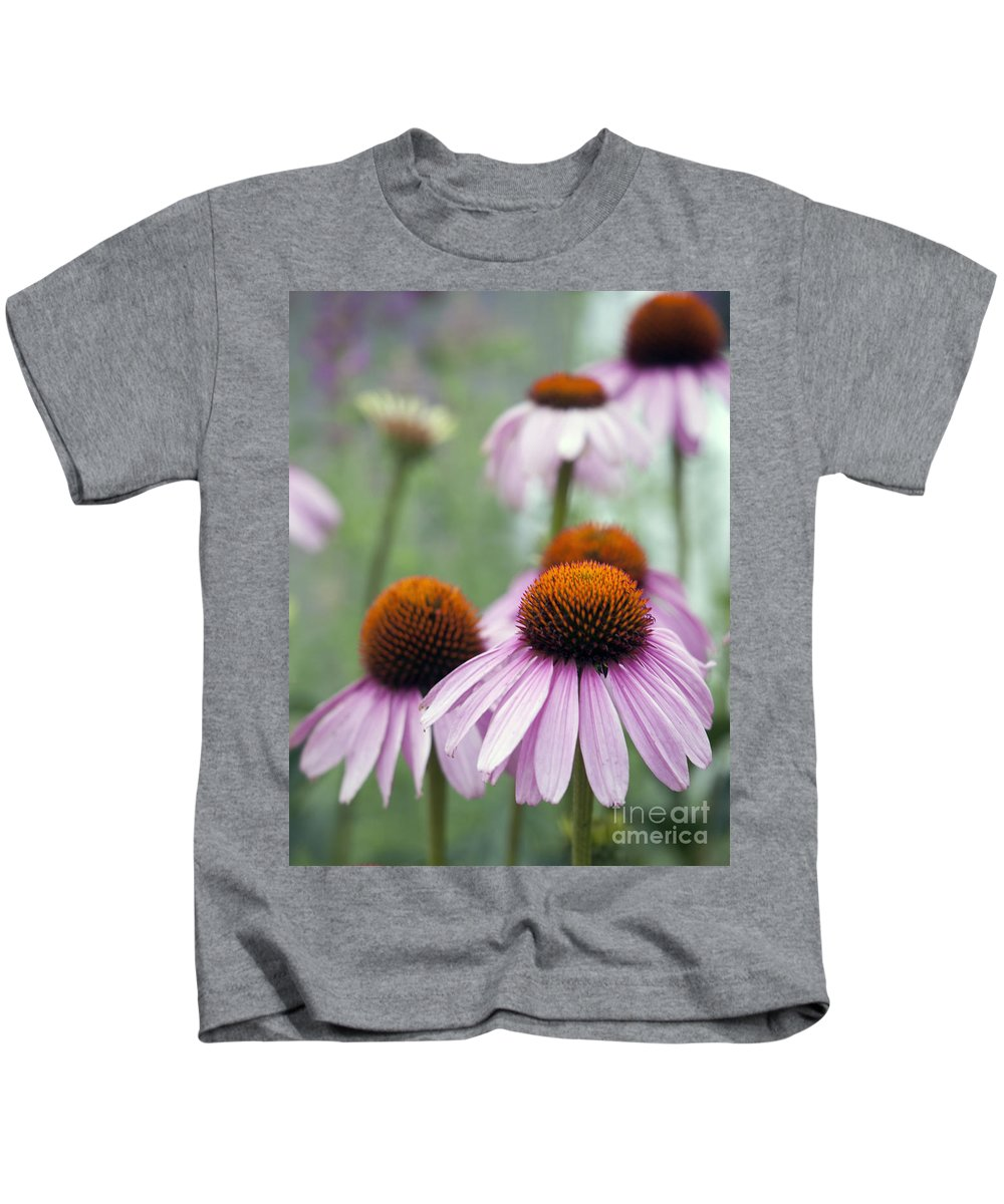 Beauty In Nature Kids T-Shirt featuring the photograph Purple Coneflower by Juli Scalzi