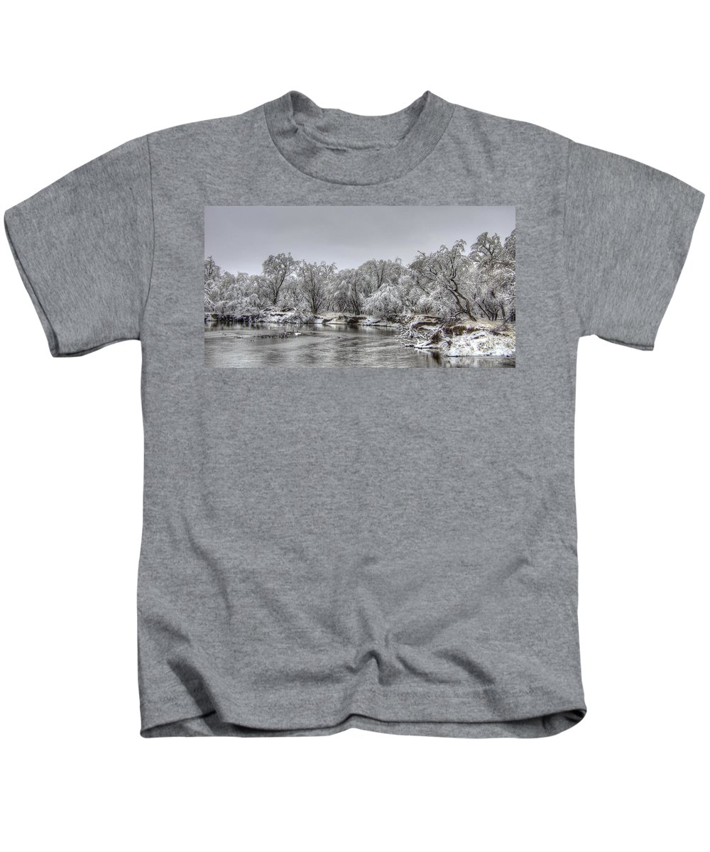 River Kids T-Shirt featuring the photograph Quiet Time by M Dale