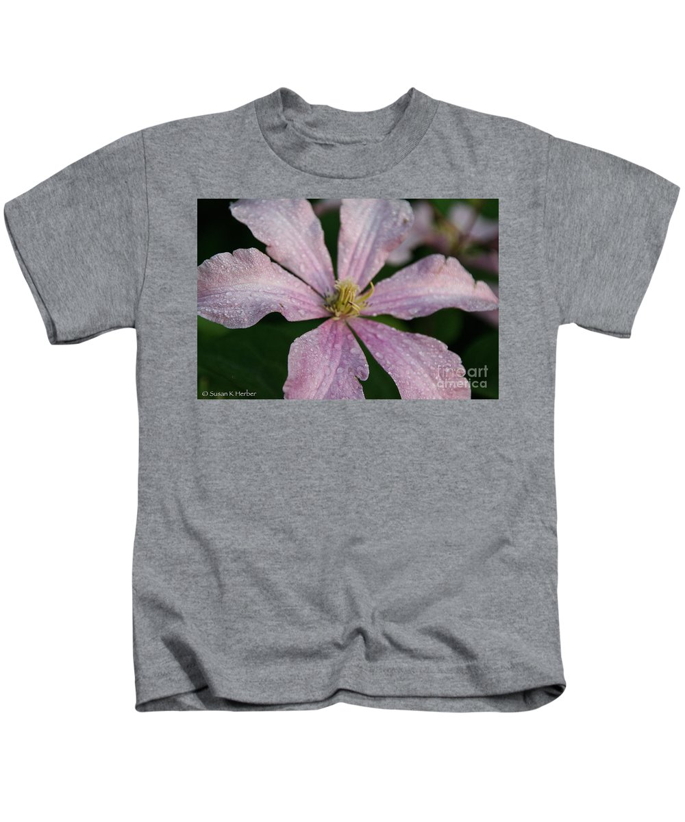 Flower Kids T-Shirt featuring the photograph Rain Drops From Heaven by Susan Herber