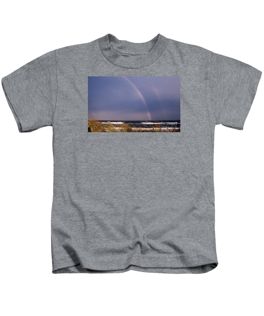 Maritime Kids T-Shirt featuring the photograph Rainbow Beach by Skip Willits