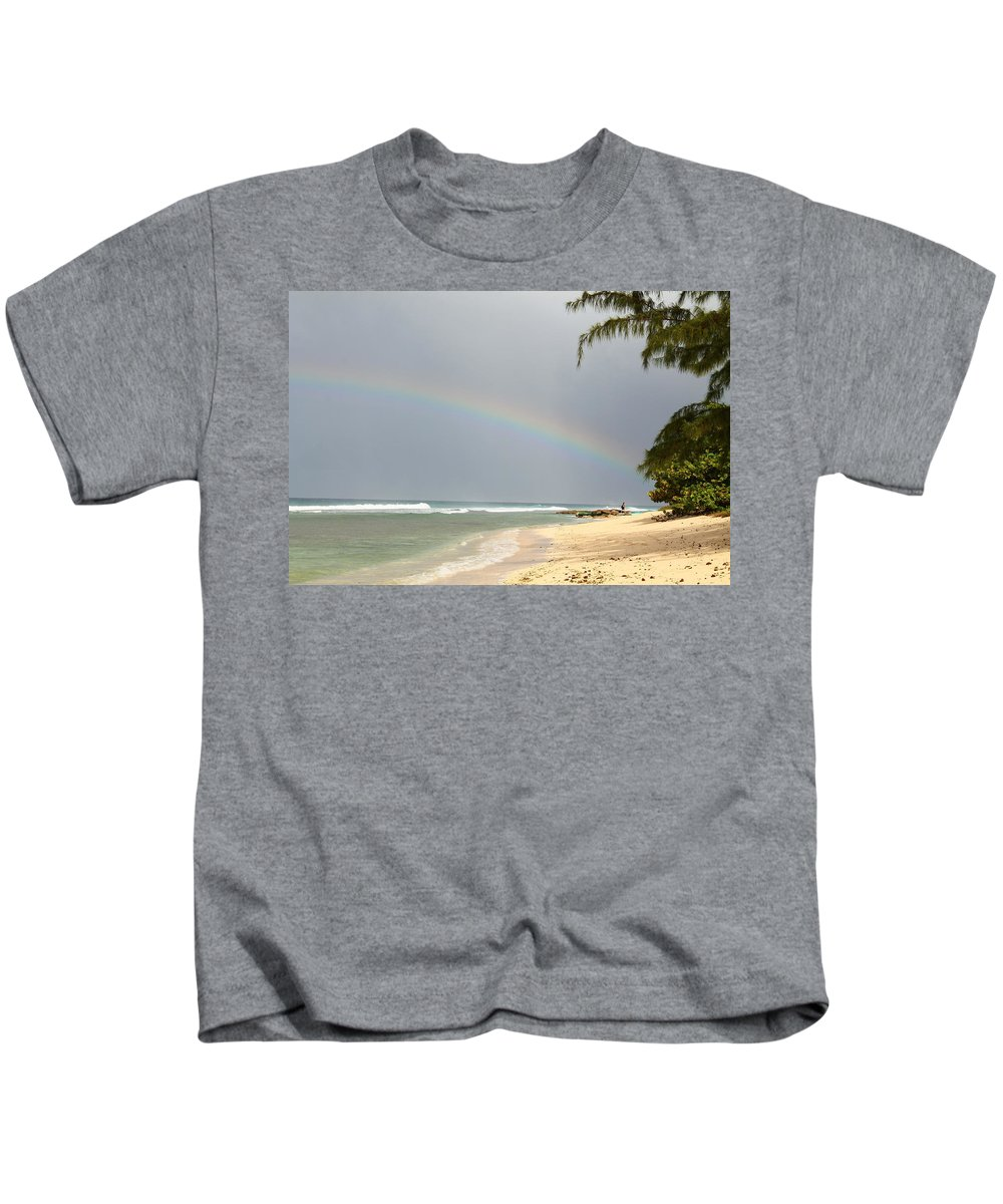 Rainbow Kids T-Shirt featuring the photograph Rainbow Bright by Catie Canetti