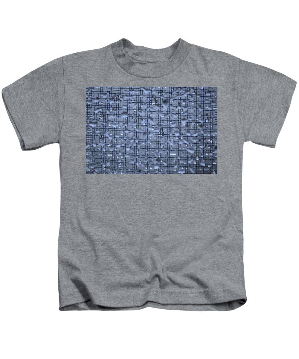 Linda Brody Kids T-Shirt featuring the photograph Raindrops On Window IIi by Linda Brody