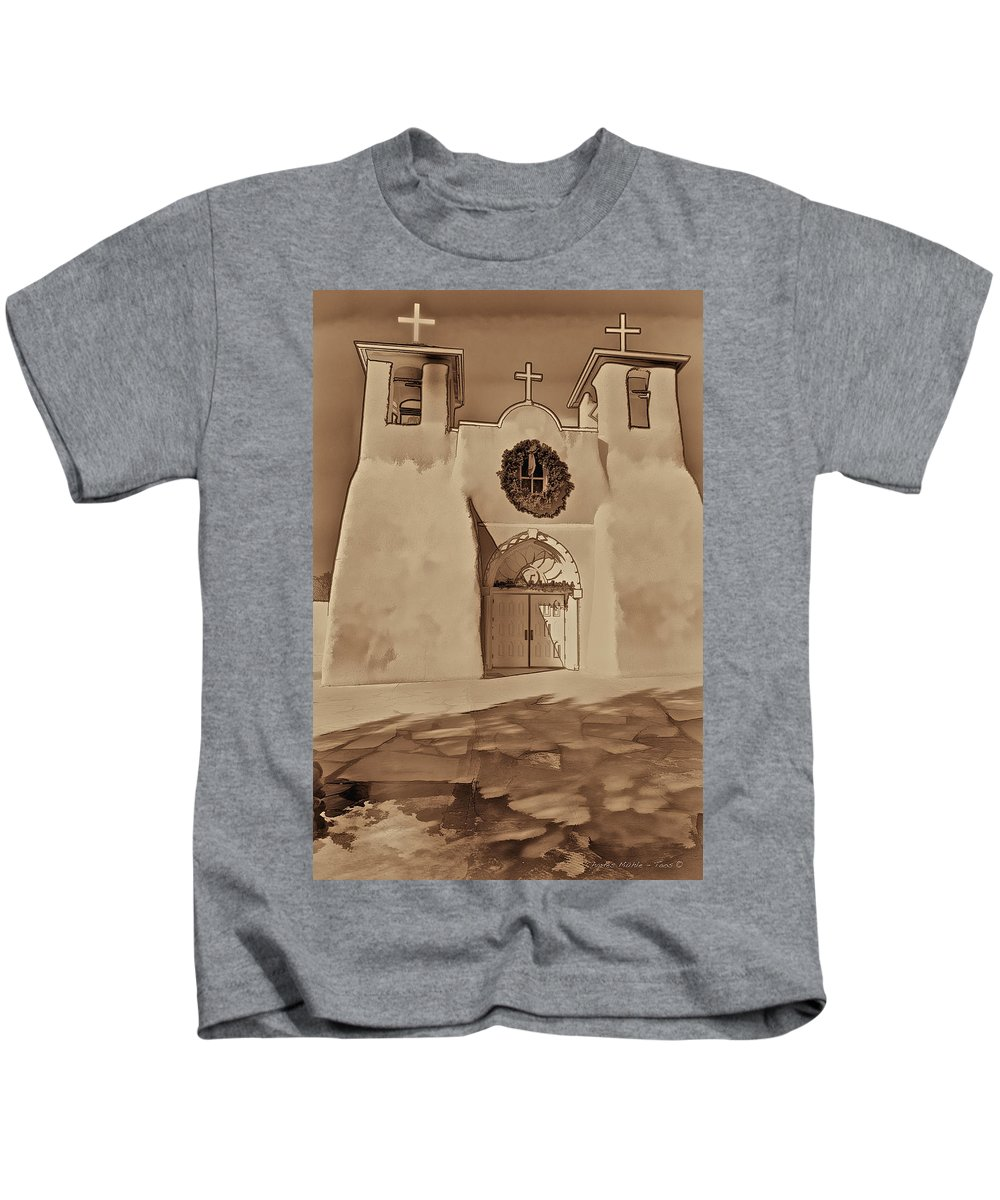 Ranchos Kids T-Shirt featuring the photograph Ranchos In Palladium by Charles Muhle