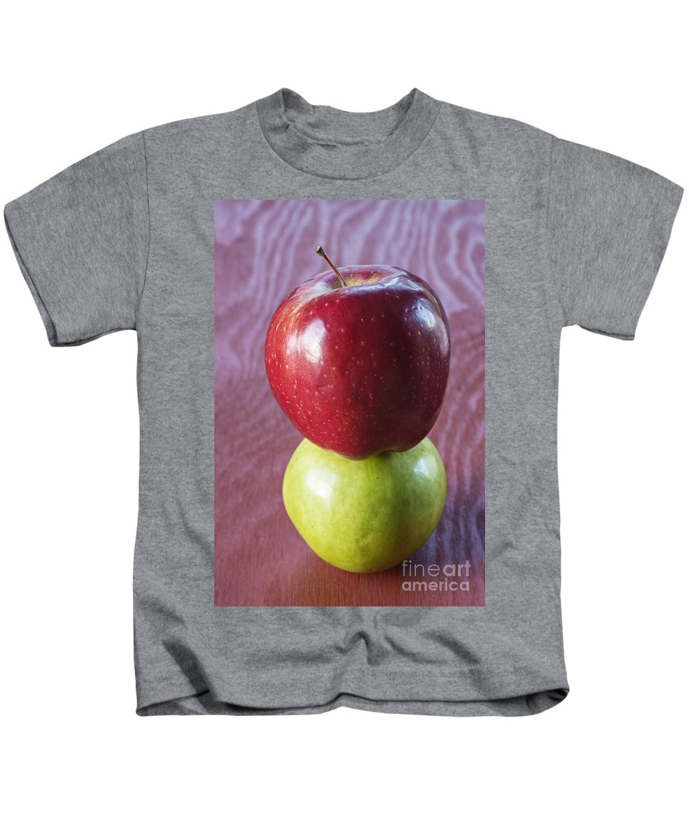 Apple Kids T-Shirt featuring the photograph Red And Green Apples by Vishwanath Bhat