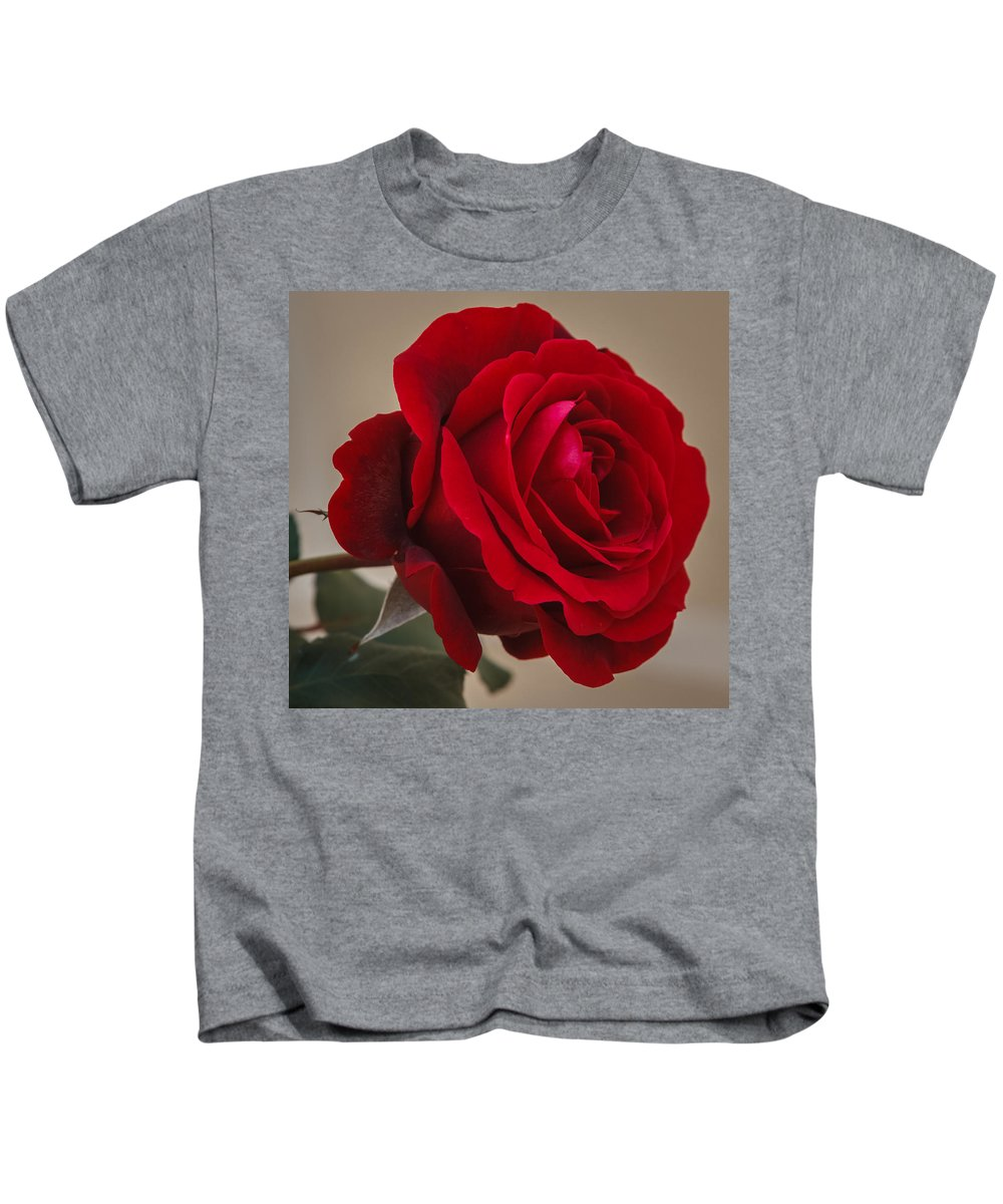Florida Kids T-Shirt featuring the photograph Red Rose by Jane Luxton