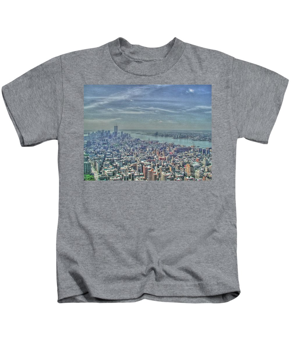 New York Kids T-Shirt featuring the photograph New York Remembering 9/11 by Tap On Photo