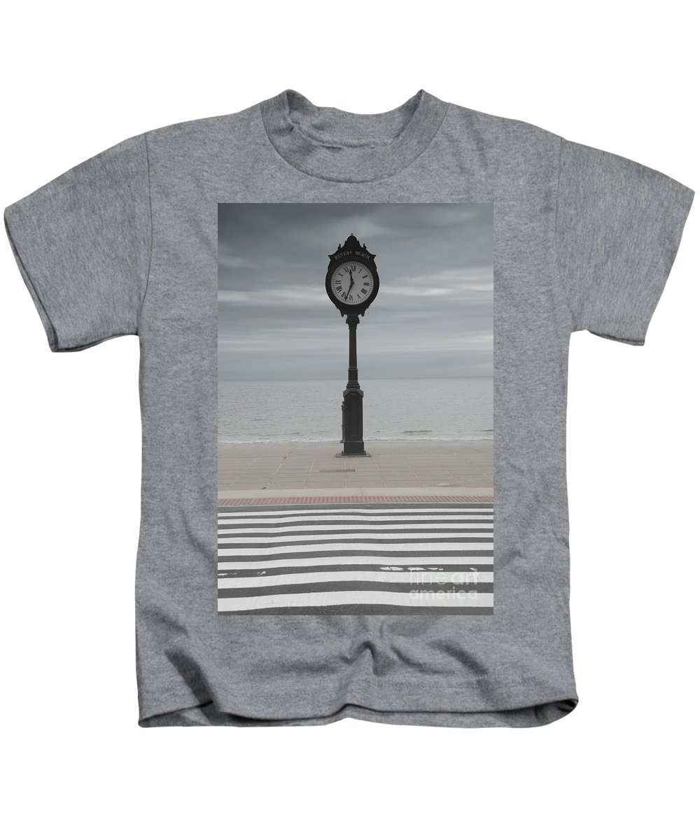 America Kids T-Shirt featuring the photograph Revere Beach by Juli Scalzi