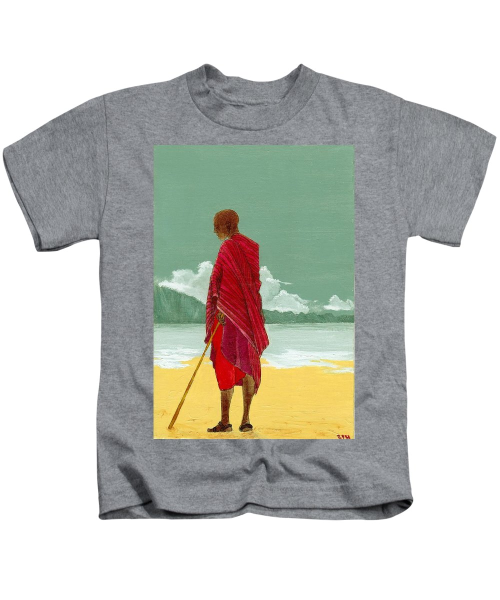 Figurative Painting Kids T-Shirt featuring the painting Reverence by Edith Peterson-Watson