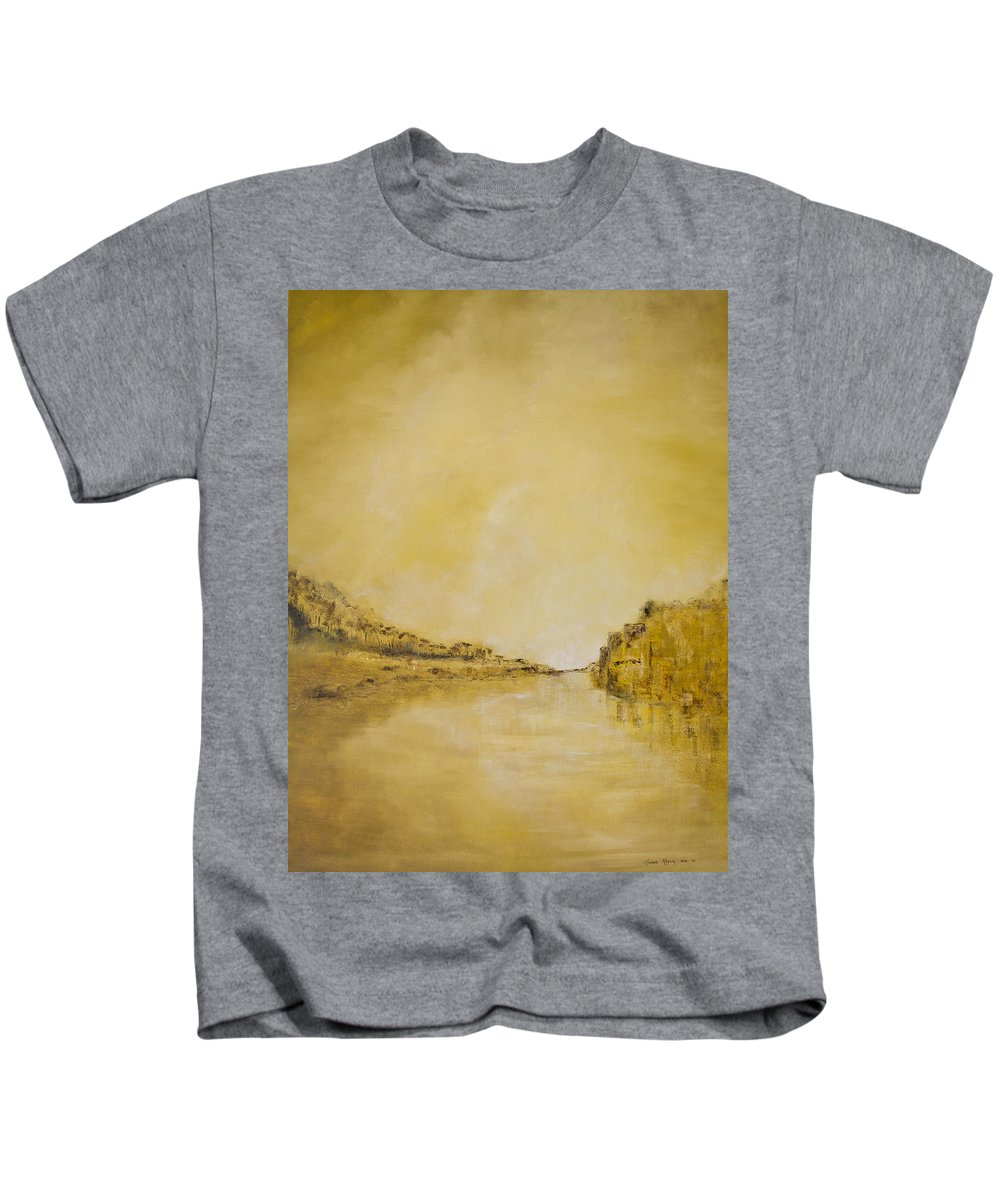 2014 Kids T-Shirt featuring the painting River Bank Slumber by Melanie Meyer