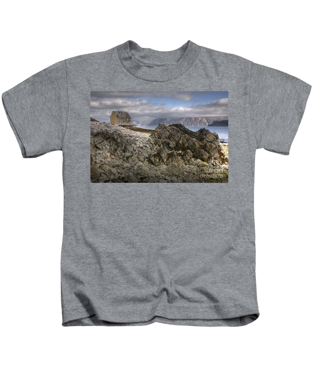 Hdr Kids T-Shirt featuring the photograph Rocky Land by Heiko Koehrer-Wagner