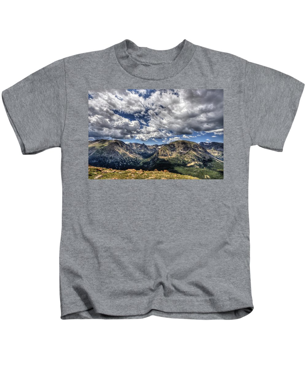 Hdr Kids T-Shirt featuring the photograph Rocky Mountain Dreams by Scott Wood