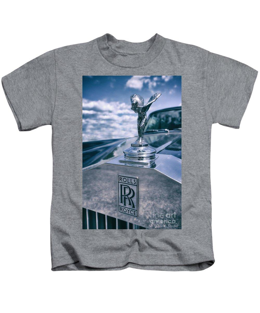 Rolls Royce Mascot Kids T-Shirt featuring the photograph Rolls Royce Mascot by David B Kawchak Custom Classic Photography