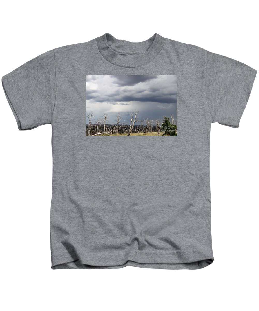 Rough Skys Kids T-Shirt featuring the photograph Rough Skys Over Colorado Plateau by Christiane Schulze Art And Photography