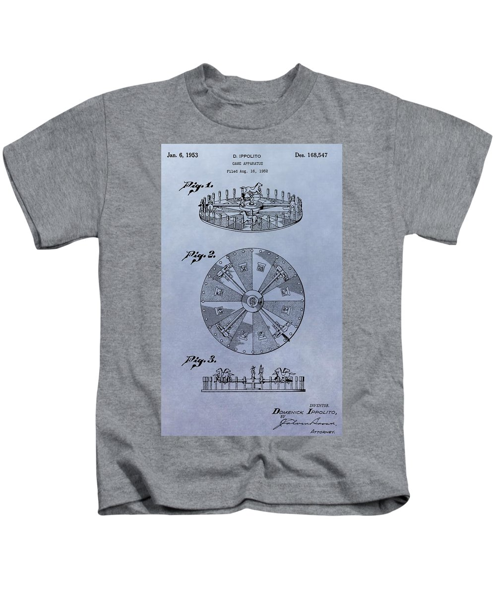 Roulette Wheel Patent Kids T-Shirt featuring the digital art Roulette Wheel Patent by Dan Sproul