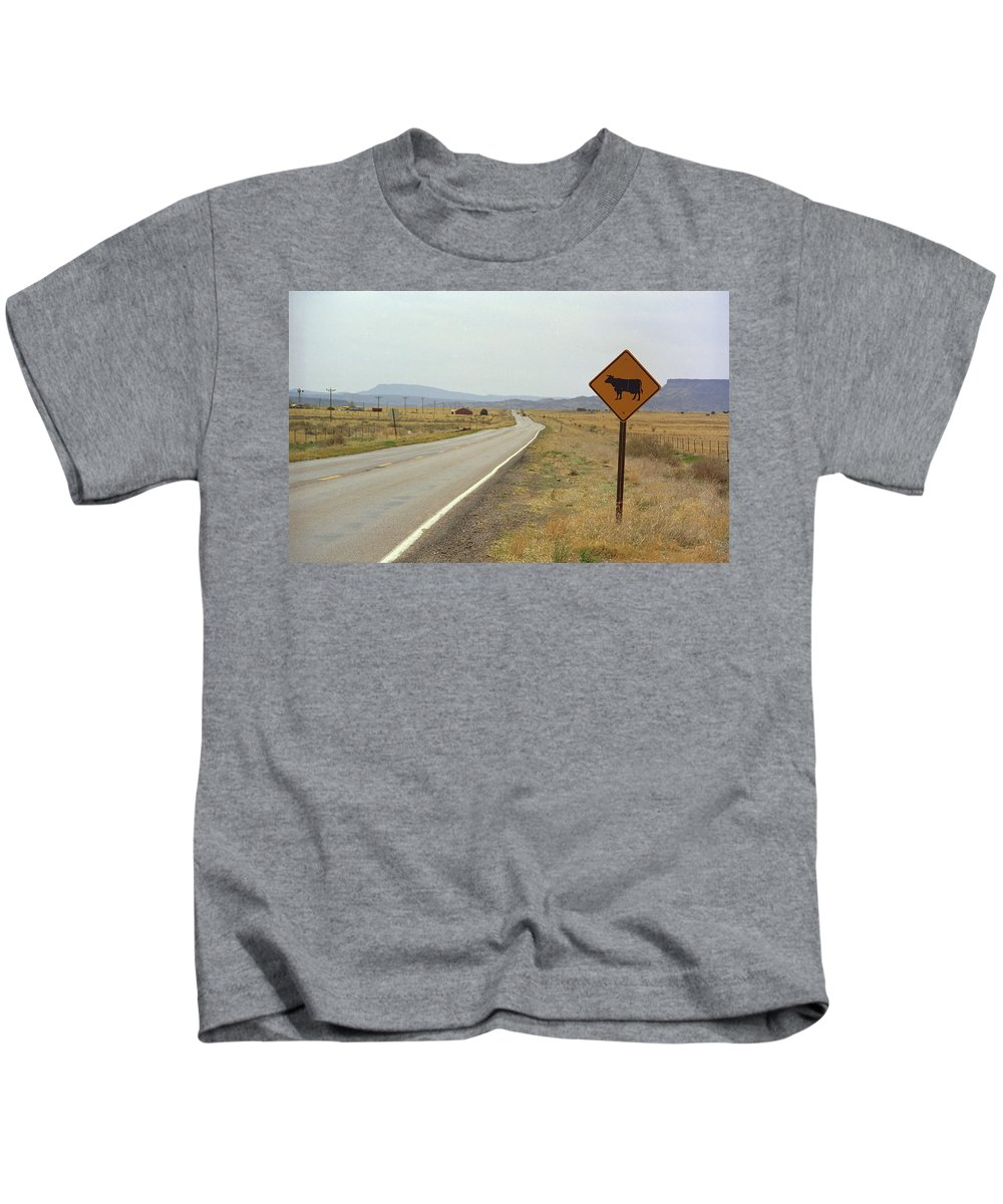 66 Kids T-Shirt featuring the photograph Route 66 - New Mexico Highway by Frank Romeo