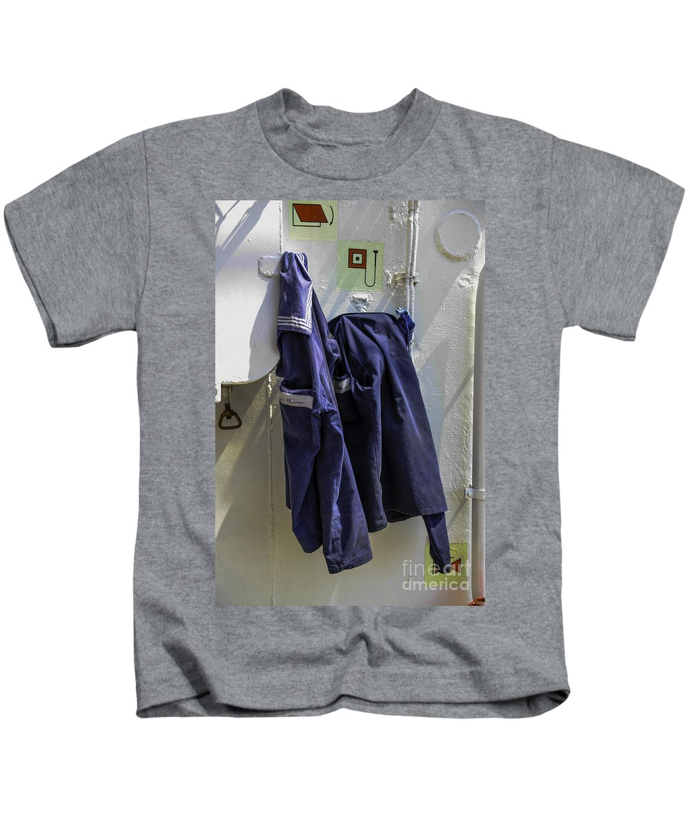 Russian Kids T-Shirt featuring the photograph Russian Tall Ship Uniforms by Dale Powell