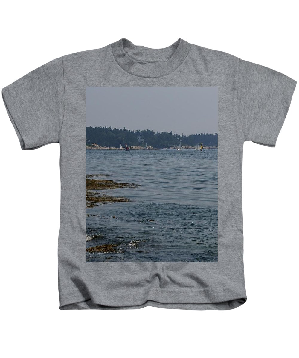 Sailboats Kids T-Shirt featuring the photograph Sailboat Heaven by Amy-Elizabeth Toomey