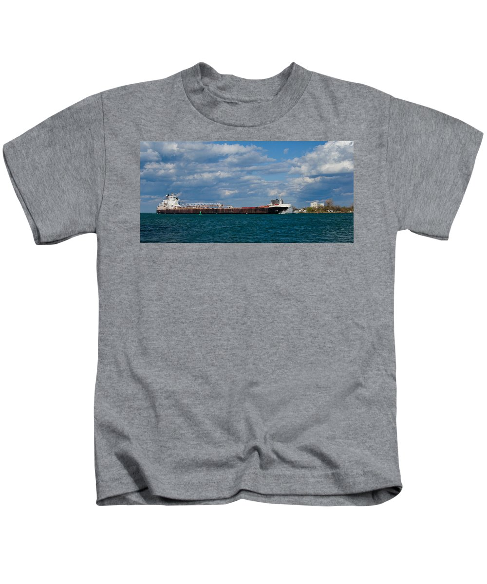 Christopher List Kids T-Shirt featuring the photograph Sam Laud Off Belle Isle by Gales Of November