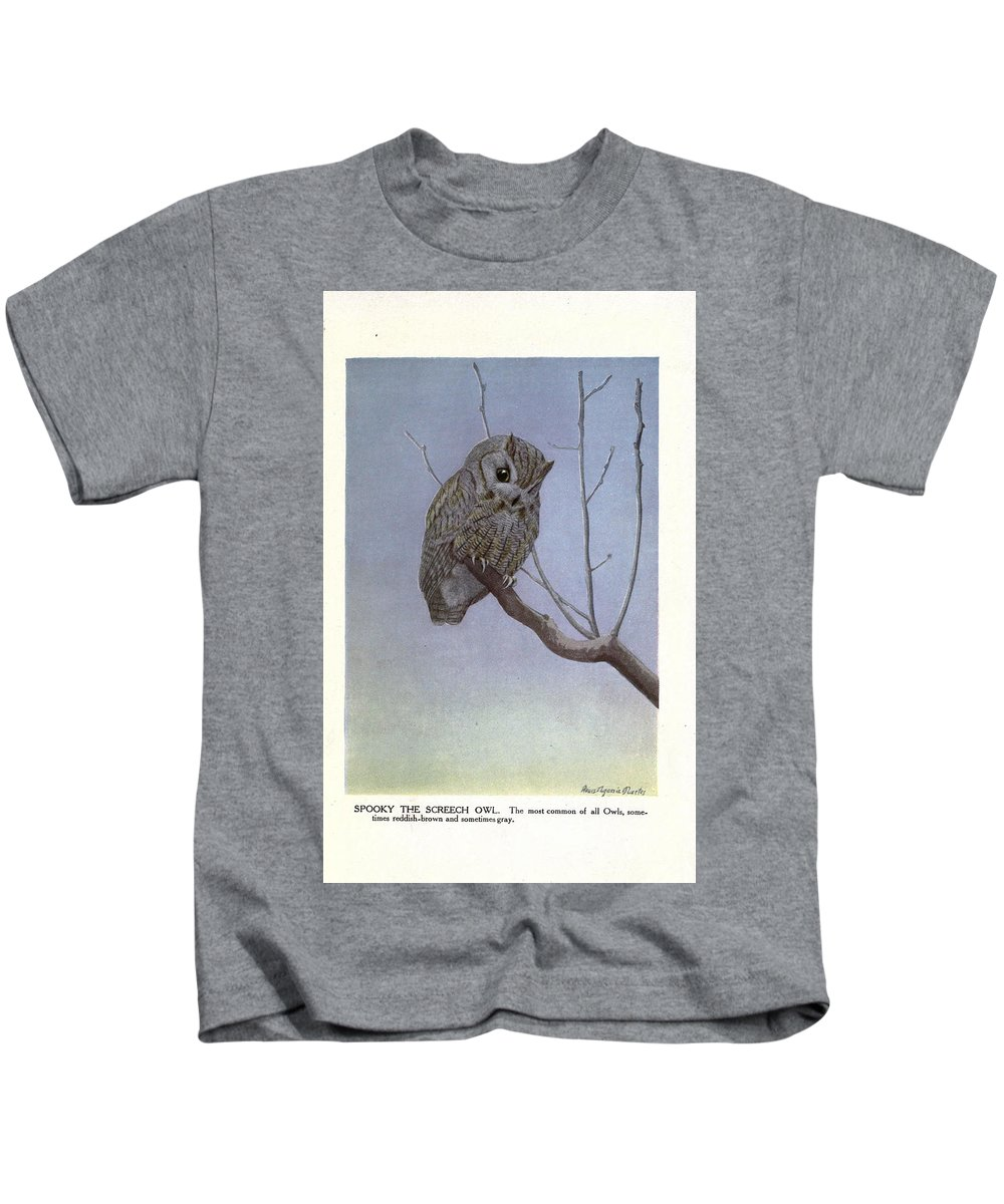 Screetch Kids T-Shirt featuring the painting Screech Owl by Philip Ralley
