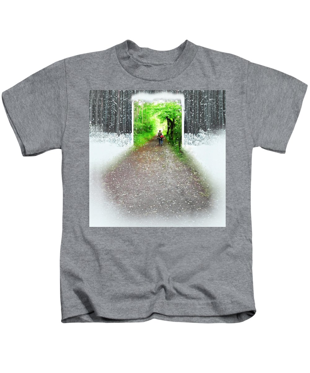Spring Time Kids T-Shirt featuring the photograph Searching Better Weather by Gravityx9 Designs