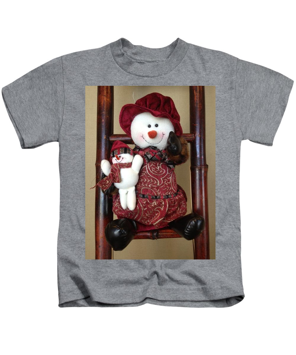 Greeting Kids T-Shirt featuring the photograph Seasons Greetings by Pema Hou