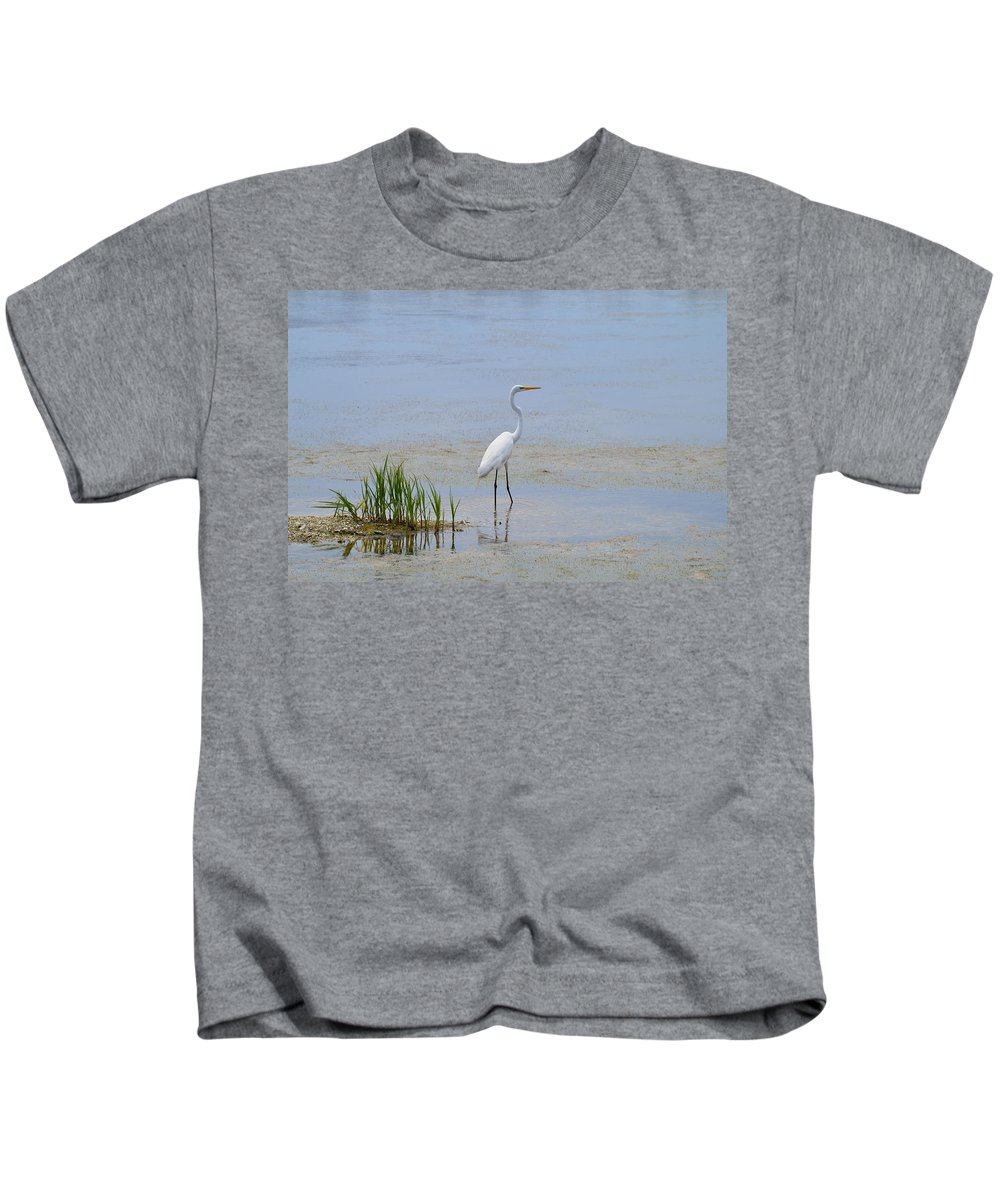 Wildlife Kids T-Shirt featuring the photograph Serene by Judith Morris