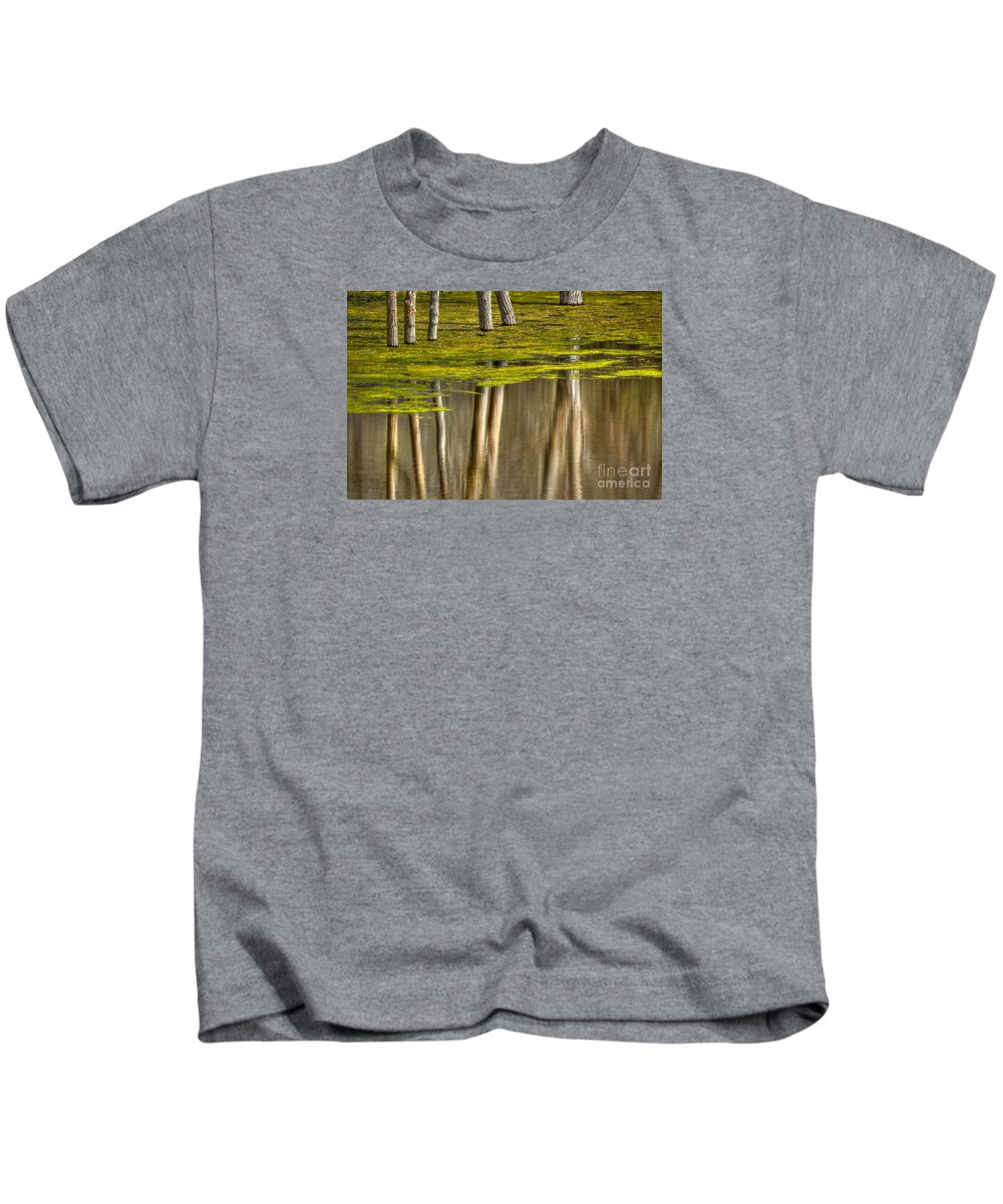 Reflection Kids T-Shirt featuring the photograph Serenity by Alice Cahill