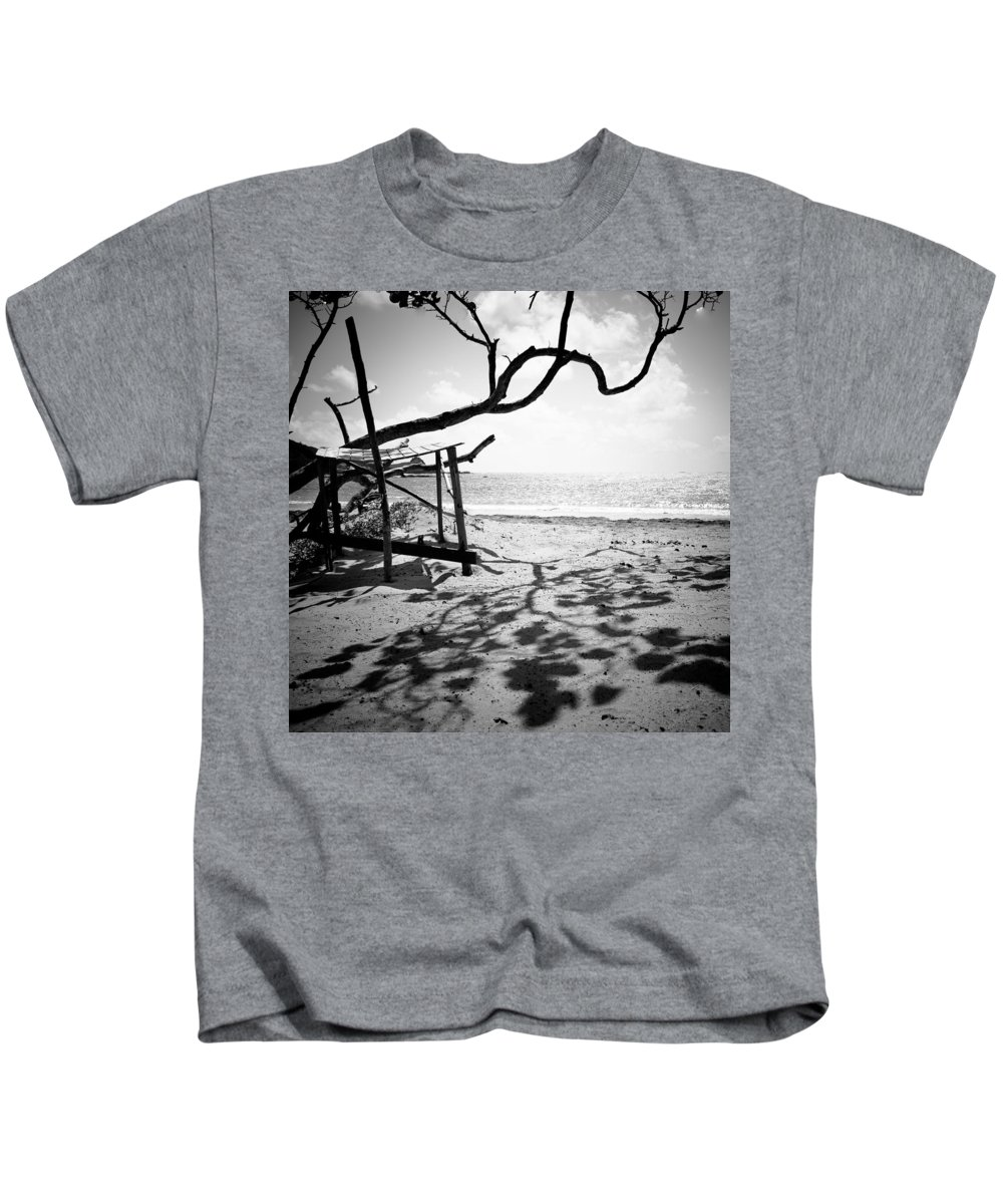 Cas And Bas Beach Kids T-Shirt featuring the photograph Shadow Tree by Ferry Zievinger