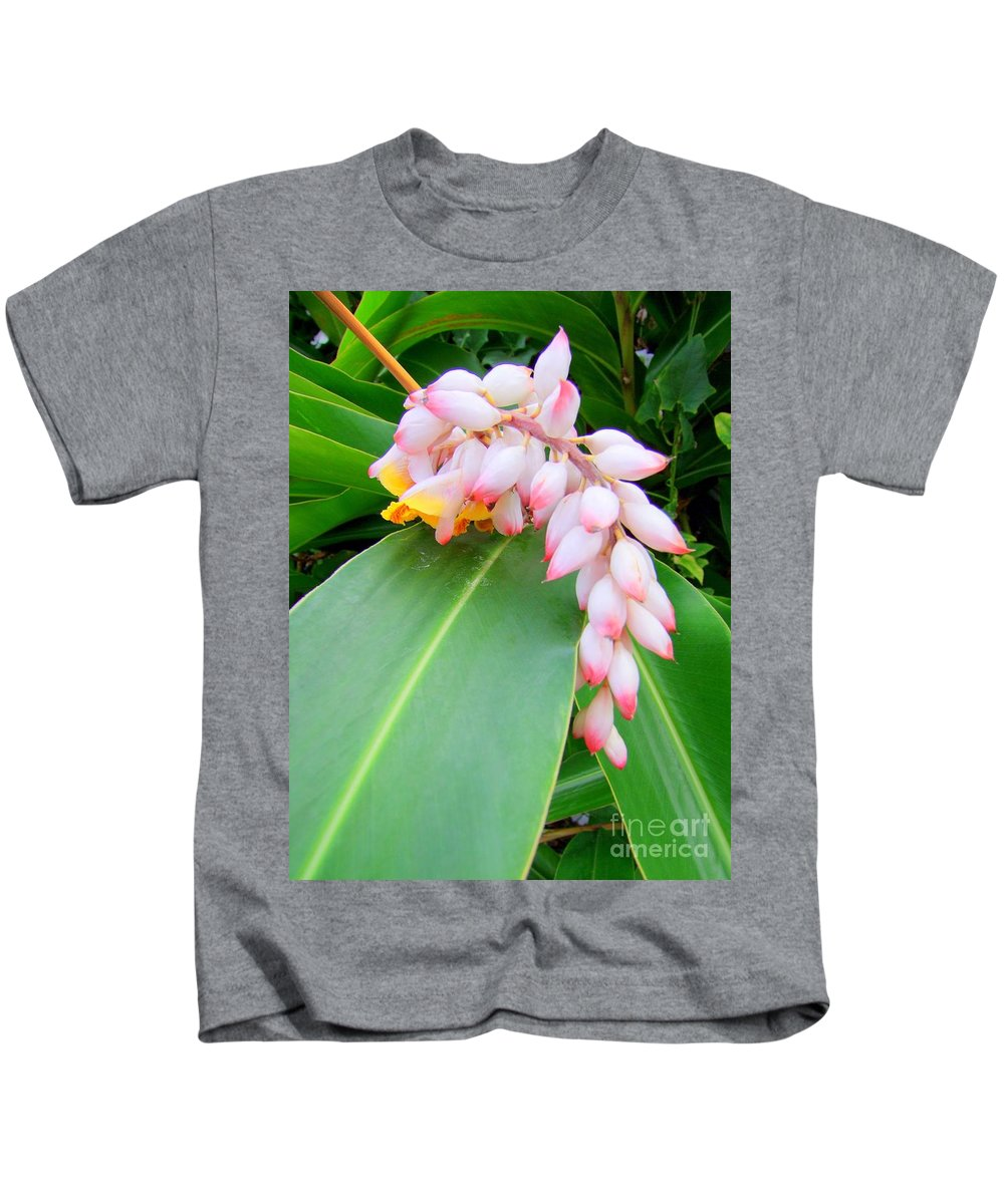 Shell Ginger Kids T-Shirt featuring the photograph Shell Ginger by Mary Deal